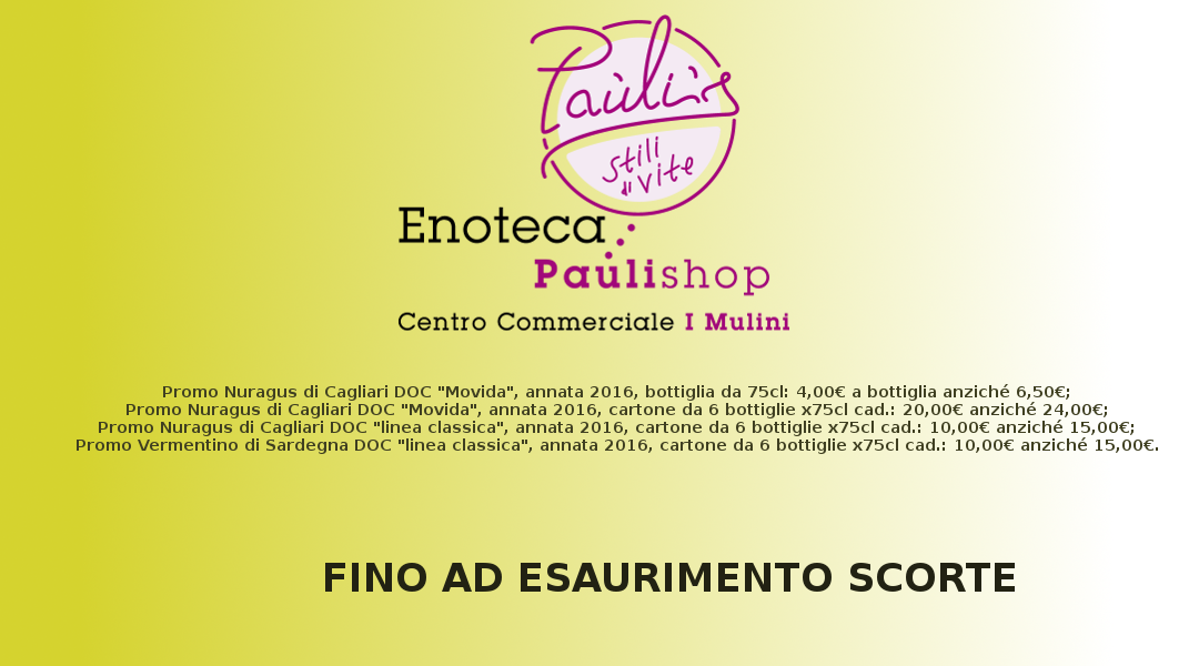 Offerta Enoteca Paulishop